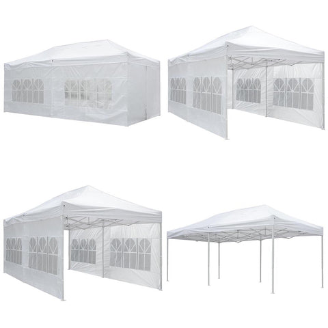 Image of Koval Inc. 10x20 FT Pop Up Canopy Tent with 4 Walls - White