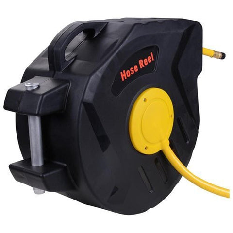 "Image of 50ft ¼"" inches Retractable Air Hose Reel Wall Mount Auto Rewind"