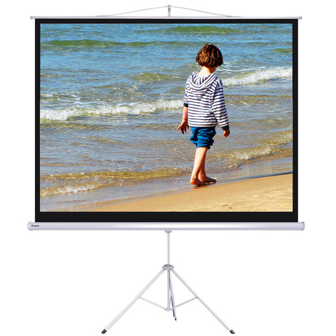 "Image of 100"" Projector Screen w/Stand"