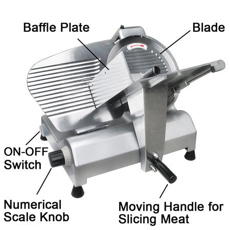 "Commercial Grade with 12"" Blade Electric Meat Slicer Deli Cutter Butcher Equipment"