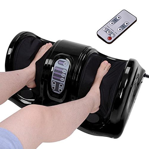 Foot Leg Massager Red Kneading and Rolling Calf Ankle with Remote
