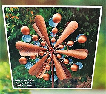 "Image of Reversible Extra Large Wind Spinner Catcher 23"" Wide, 83"" High Weather Resistant Finish"