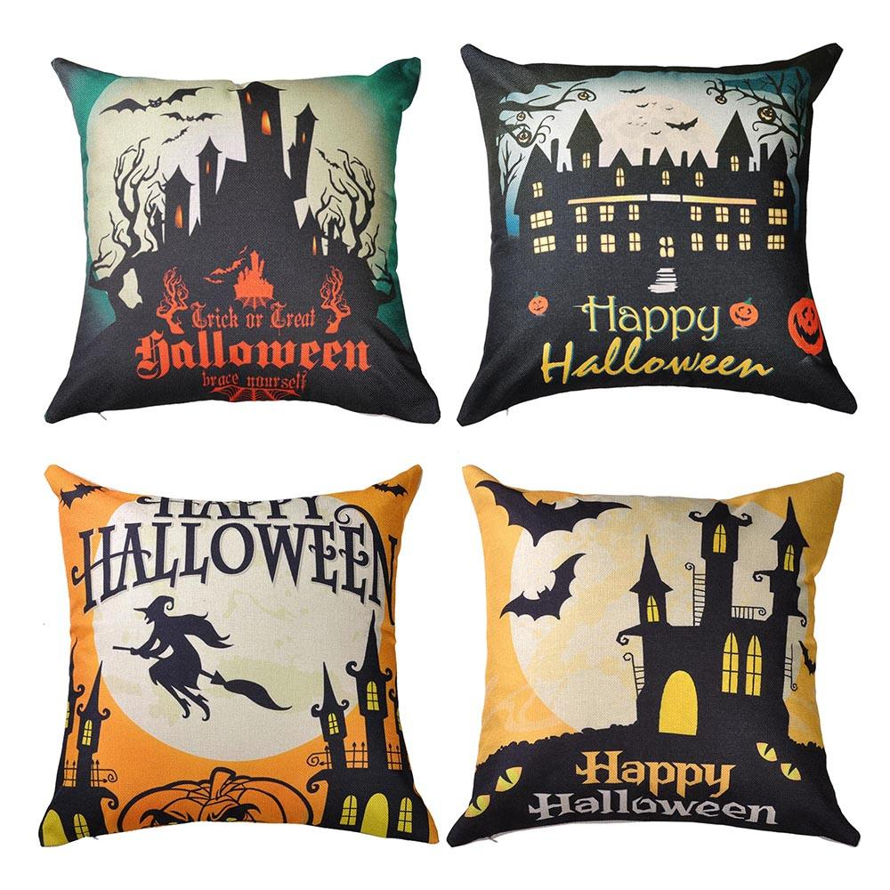 Halloween Throw Pillow Covers (4-Pack)
