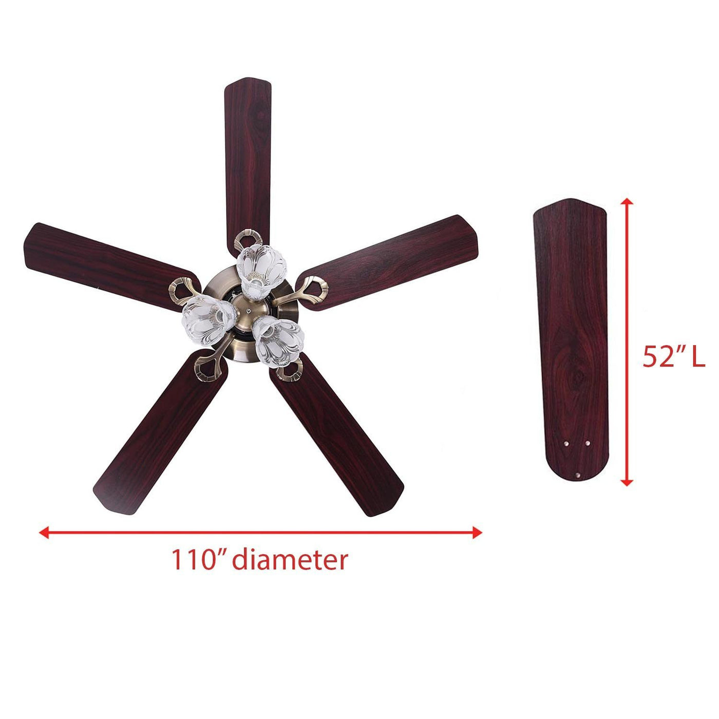 5 Blade Ceiling Fan W Light Amp Remote Koval Inc