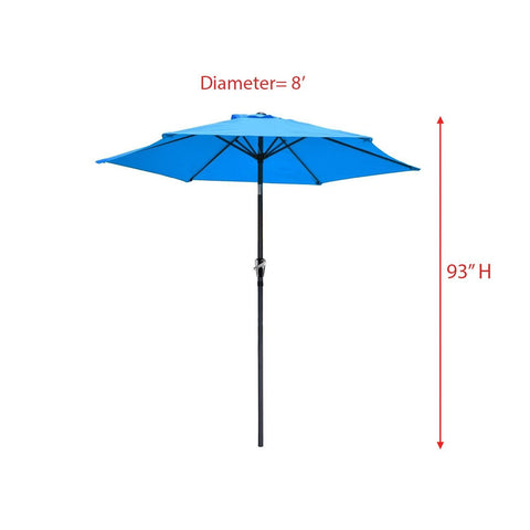 Image of 8' Outdoor Patio Umbrella Blue