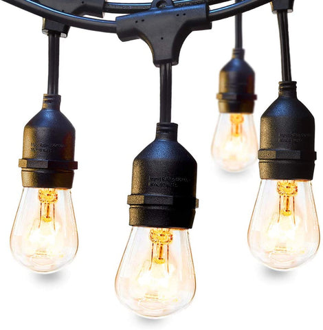 Koval Inc. 48 FT Outdoor String Lights - Bulb Options