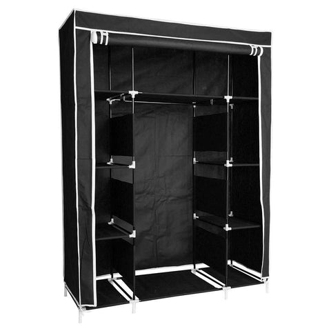 Image of Black Portable Closet - Shoe Organizer