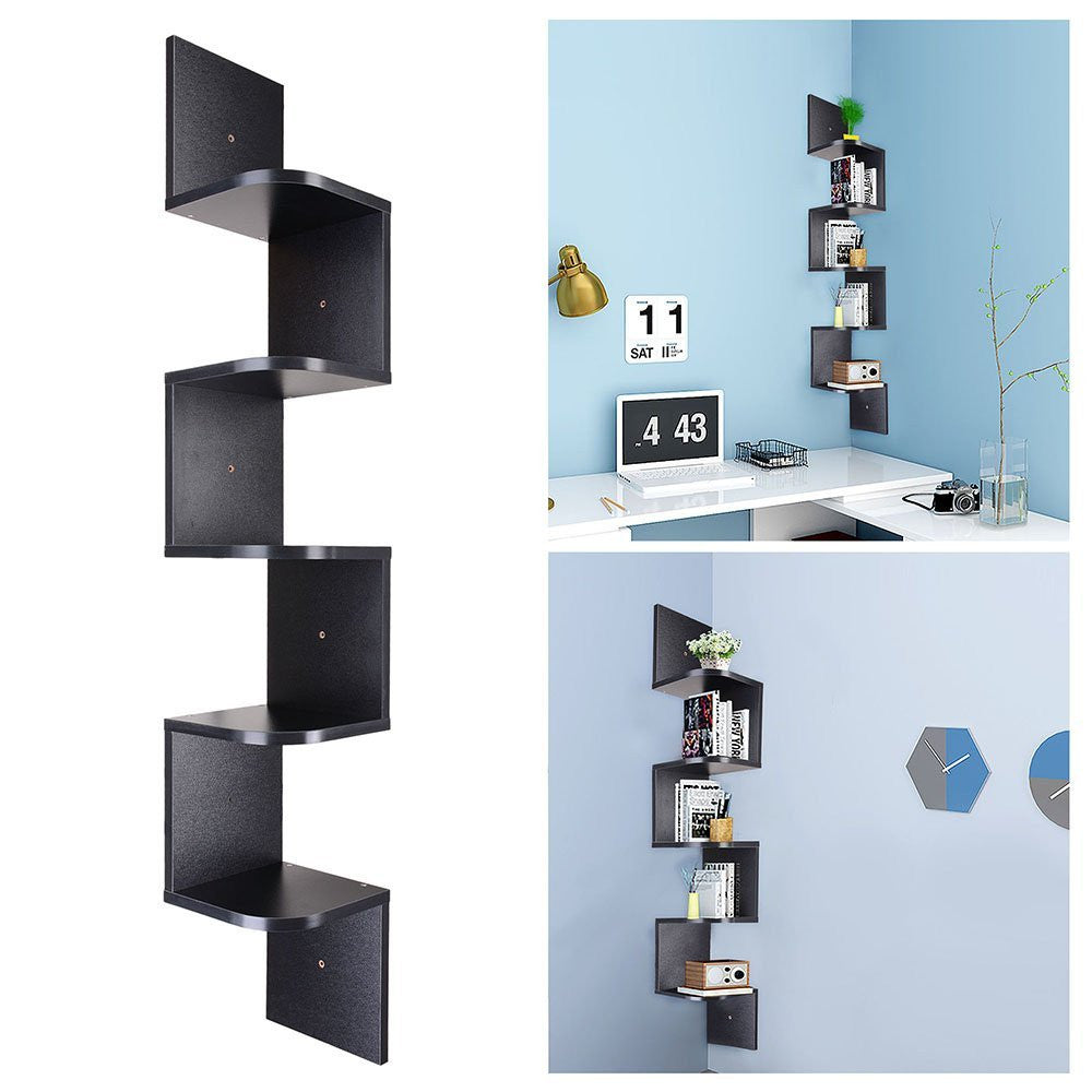 Zigzag Corner Shelf