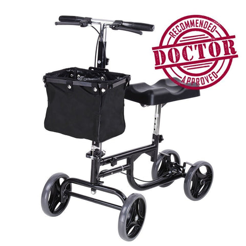 Steerable Knee Scooter, Adult Walker w/ Wheels and Basket