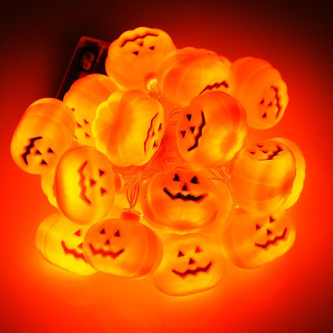 Image of 11 ft. Halloween Pumpkin Lights Decor