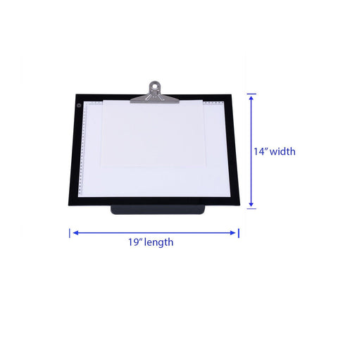 "Image of 14""/19"" Tracing Light Box Drawing Pad"