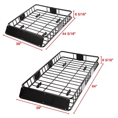 Universal - 64inch Car Rooftop Cargo Basket Carrier with Extension