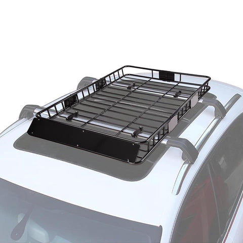 Image of Universal - 64inch Car Rooftop Cargo Basket Carrier with Extension