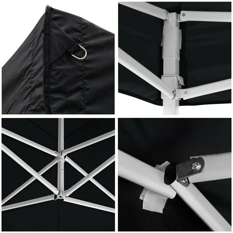 10x20 FT Pop Up Canopy Tent with 4 Walls - Black