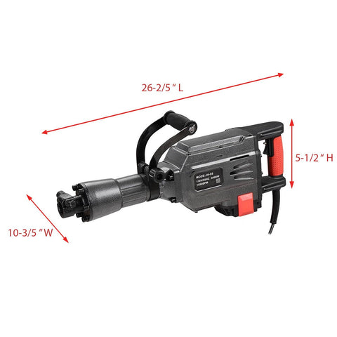 Electric Demolition Jackhammer Drill w/Case