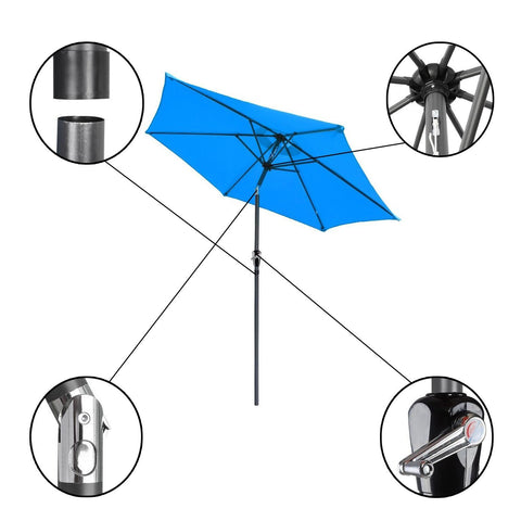 8' Outdoor Patio Umbrella Blue