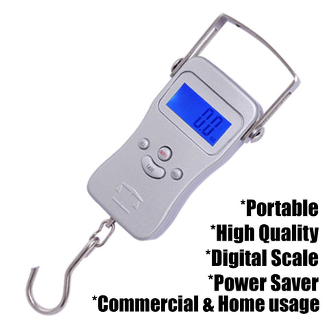 Image of Portable Digital Hanging Scale with Backlit LCD Display