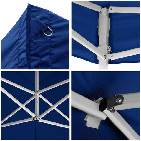 Image of Koval Inc. 10x20 FT Pop Up Canopy Tent with 4 Walls - Blue