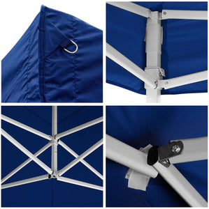 Koval Inc. 10x20 FT Pop Up Canopy Tent with 4 Walls - Blue
