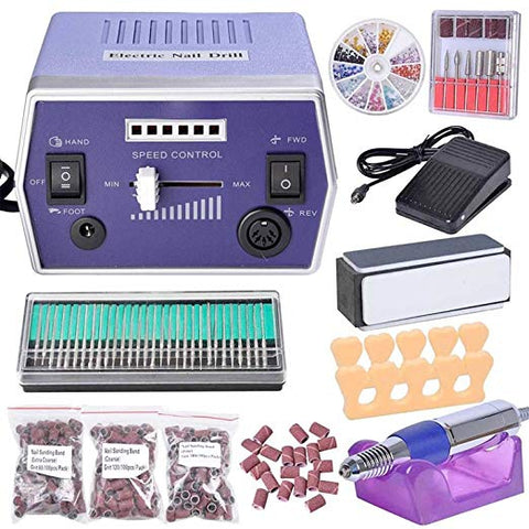 Purple Nails Salon Manicure Nail Drill File Machine Kit