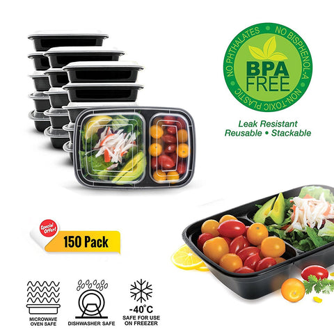 Image of Meal Prep Containers - 150 Pack