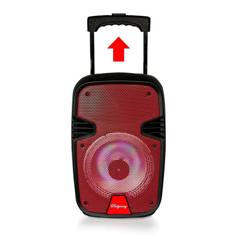 "Image of 8"" inches Portable Rechargeable Trolley Bluetooth Speaker"