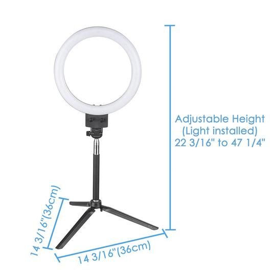 "8"" Ring Light with Stand  and Accessories Social Media (YouTube, Vlogging etc.)"