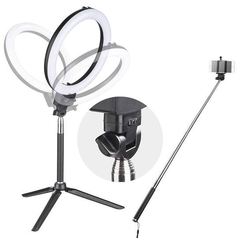 "Image of 8"" Ring Light with Stand  and Accessories Social Media (YouTube, Vlogging etc.)"
