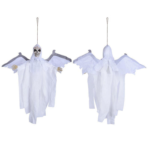 Animated Skeleton Props with Wings Sound Activated Lighted