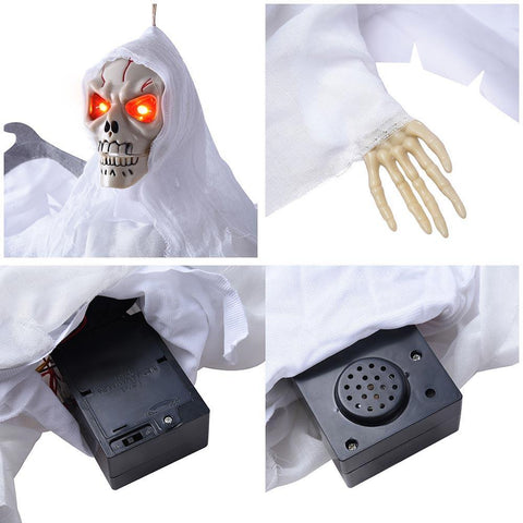 Image of Animated Skeleton Props with Wings Sound Activated Lighted
