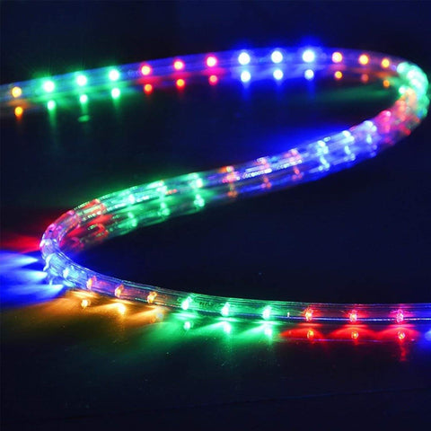 Image of DELight Holiday Lighting LED Rope Light Spool 50ft – Multi Color (RGBY)
