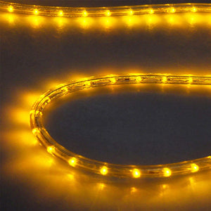DELight Holiday Lighting LED Rope Light Spool 50ft  -Saffron (orange)