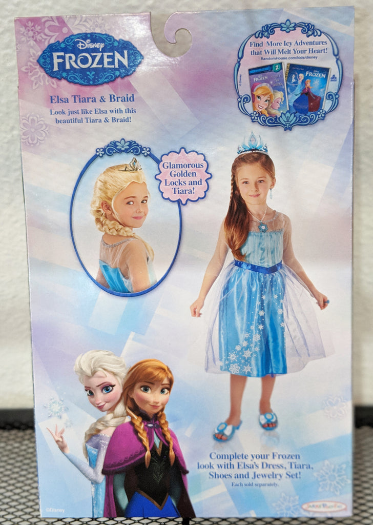 Disney Frozen Elsa Tiara & Braid