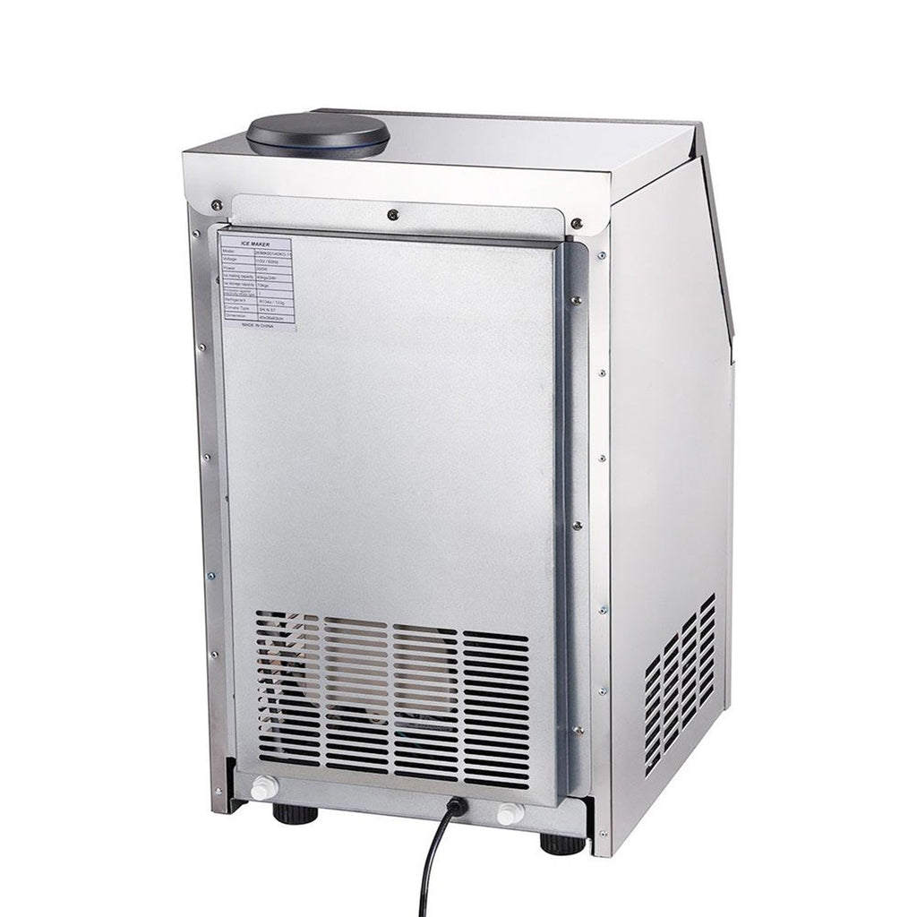 Portable 100lb Stainless Steel Ice Maker Machine Commercial 300w