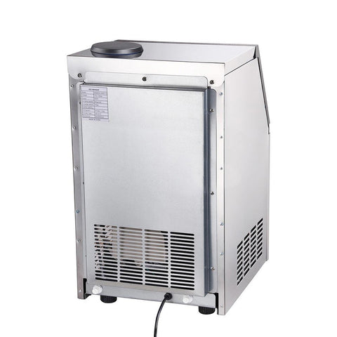 Image of Portable 100lb Stainless Steel Ice Maker Machine Commercial 300w
