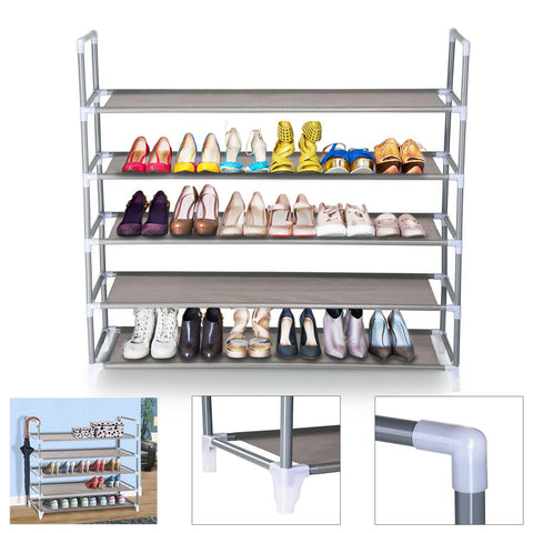 Image of 5-Tier Shoe Rack, Holds 20-25 Pairs of Shoes