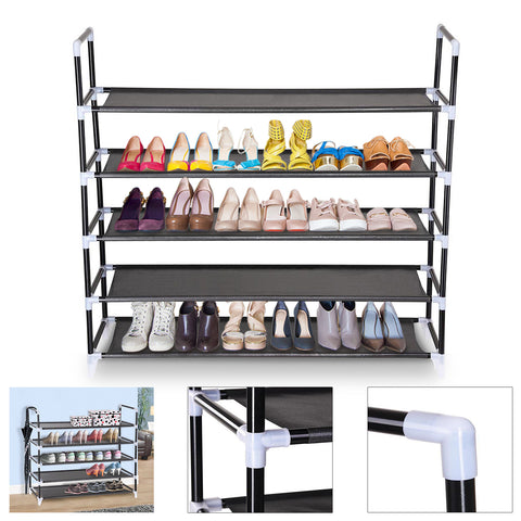 5-Tier Shoe Rack, Holds 20-25 Pairs of Shoes