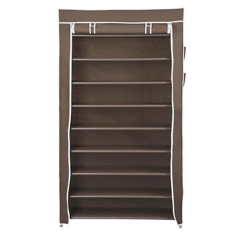 10 Tiers Shoe Rack with Dust proof Cover, Holds 45 Pairs of Shoes