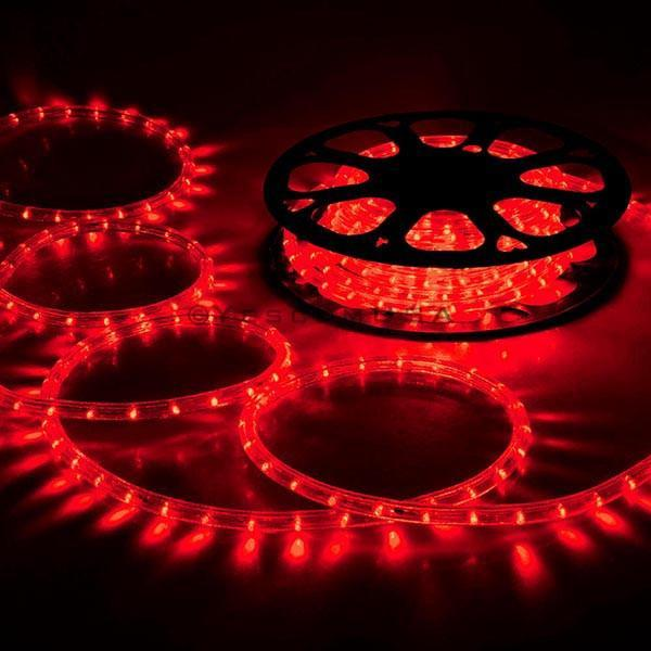 DELight Holiday Lighting LED Rope Light Spool 150ft – Red
