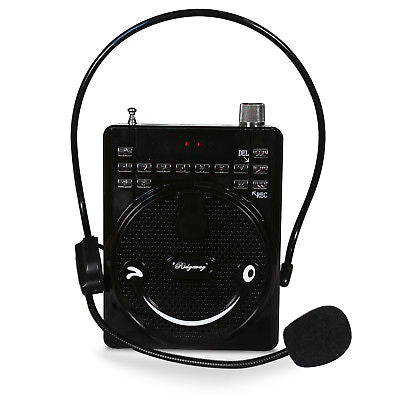 Image of Ridgeway BS-565 Portable FM Radio Rechargeable Mini Voice Amplifier with Mic