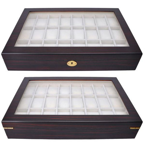Image of 24-Slot Watch Display Case