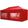 Koval Inc. 10x20 FT Pop Up Canopy Tent with 4 Walls - Red