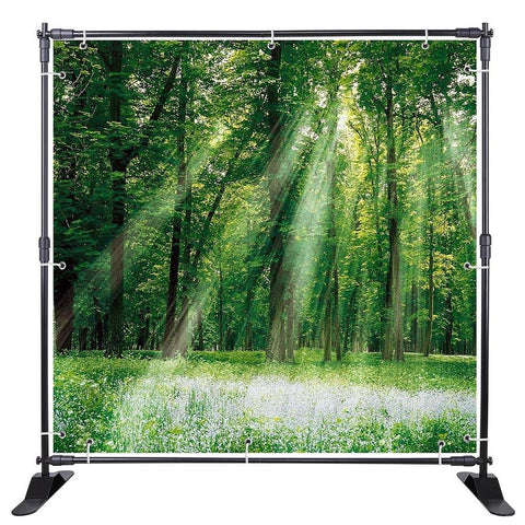 Telescopic Backdrop Banner - Up to 8' x 8'