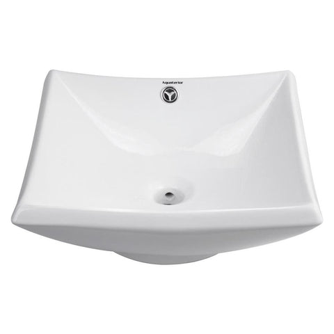Image of Sunken Vanity Sink w/Drain - Square Bowl
