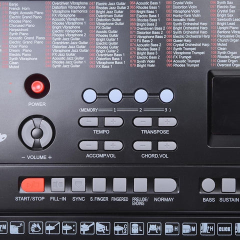 Image of 61-Key Electronic Keyboard with USB Port