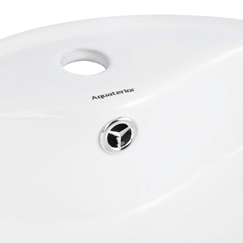 Image of Vanity Sink with Drain - Round