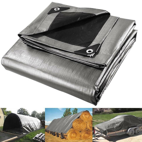 Image of 10mil Heavy Duty Canopy Poly Tarp Reinforced Tent Car Boat Cover Tarpaulin