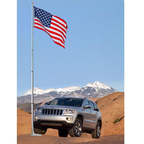 Image of 30' ft Flagpole Kit with Flag & Tailgate