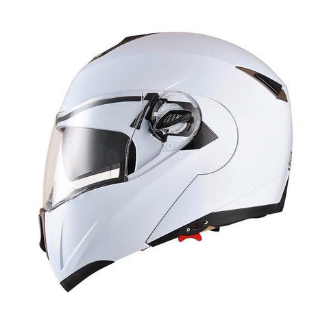 Image of White Motorcycle Helmet