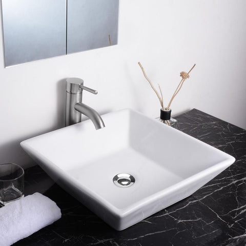 Sunken Vanity Sink with Drain - Square